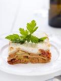 Vegetarisk lasagne Royaltyfri Bild