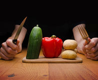 Vegetarisk mat Arkivbild