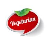 Vegetarisk matetikett Royaltyfria Bilder