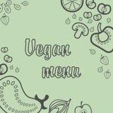 Vegetarisk meny Royaltyfria Foton