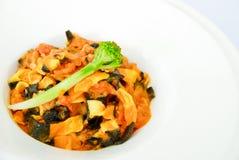 Vegetarisk pasta Royaltyfria Bilder