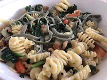 Vegetarisk pastamaträtt arkivbild