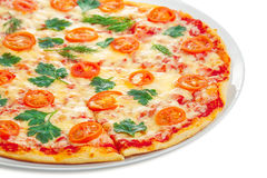 Vegetarisk pizza Royaltyfria Bilder