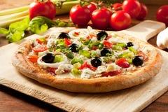 Vegetarisk Pizza royaltyfri fotografi