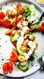 Vegetarisk platta Royaltyfri Foto