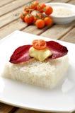 Vegetarisk ricecake Royaltyfri Fotografi