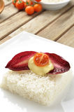 Vegetarisk ricecake Royaltyfri Foto