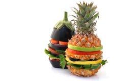 vegetariska hamburgare fotografering för bildbyråer