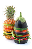 vegetariska hamburgare royaltyfri foto