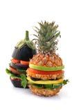 vegetariska hamburgare arkivbilder