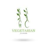 Vegetariska kokkonstsymboler stock illustrationer