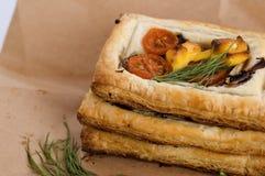 vegetariska pies Fotografering för Bildbyråer