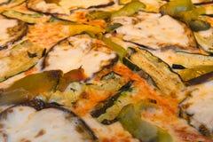 Vegetariska pizzatoppningar Arkivfoto