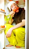 vegetariskt barn Royaltyfri Fotografi