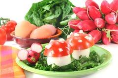 vegetariskt kallskuret Arkivbilder