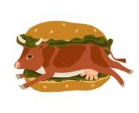 Vegetarisme tegen Snel Voedsel. Royalty-vrije Stock Foto's