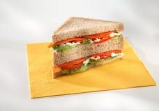 Vegetatable smörgås Arkivfoto