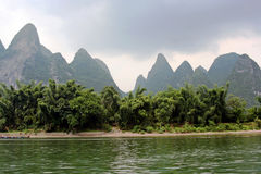 Vegetation along the Li river in southern China Royalty Free Stock Photography