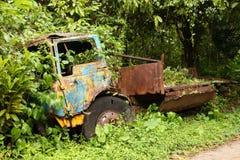 Vegetation eats truck Stock Photos