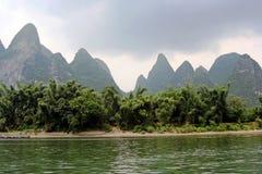Vegetation entlang dem Li-Fluss in Südchina Lizenzfreie Stockfotografie
