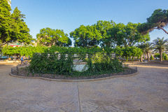 Vegetation and gardens Park Nicolas Salmeron in Almeria, Spain Royalty Free Stock Photo