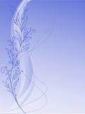 Vegetation pattern on a blue background Royalty Free Stock Image