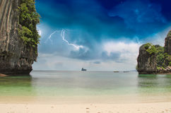 Vegetation and Sky Colors of Thailand Ocean Royalty Free Stock Image