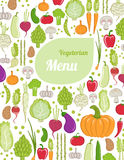 Vegeterian menu Stock Photos