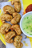 Vegeterian momos Stock Photo