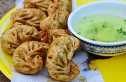 Vegeterian momos Stock Images