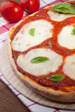 Vegeterian Pizza Margherita Stock Image