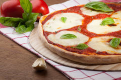 Vegeterian Pizza Margherita Stock Photos