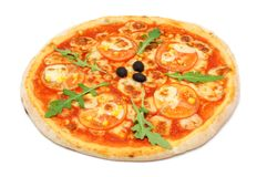 Vegeterian pizza with  tomato Royalty Free Stock Photography