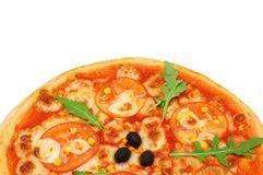 Vegeterian pizza with  tomato Royalty Free Stock Image