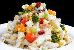 Vegetrian pastasallad Fotografering för Bildbyråer