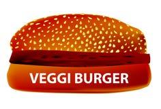 Veggi Burger. A large Veggi Burger in a sesame bun Royalty Free Stock Image