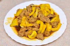 veggie гриба тарелки Стоковые Изображения