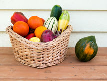 Veggie basket Royalty Free Stock Images