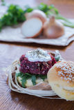Veggie beetroot burger Stock Image