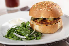 Free Veggie Burger Royalty Free Stock Photos - 22062468