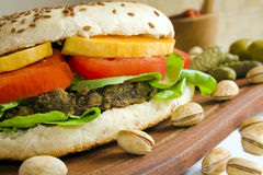 Veggie burger royalty free stock photography