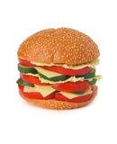 Veggie Burger. On white background stock photos