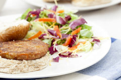 Veggie Burger on Bun Royalty Free Stock Photography