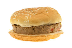 Veggie burger isolated on white background Royalty Free Stock Photography