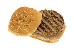 Veggie burger isolated on white background Royalty Free Stock Images