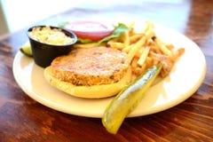 Veggie burger meal Royalty Free Stock Photo