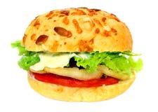 Veggie Burger Over White Stock Image
