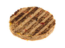 Veggie burger patty on a white background Royalty Free Stock Image