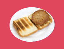 Veggie burger on toast Royalty Free Stock Photos
