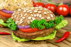 Veggie  Burger Tofu Stock Photography